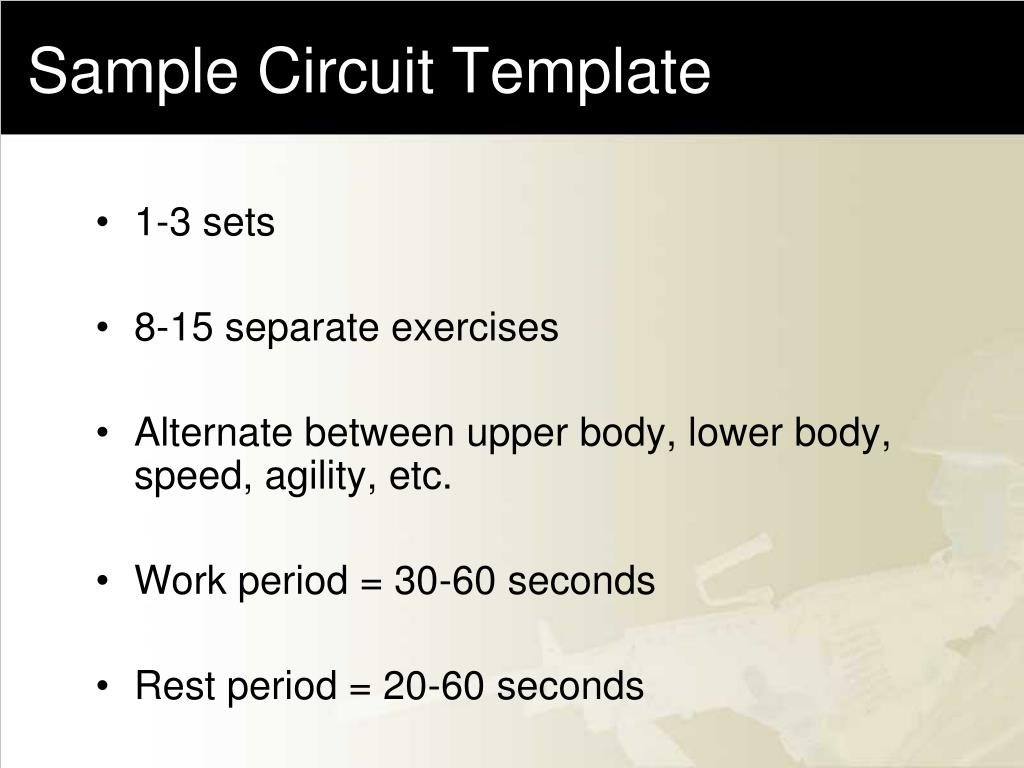 Sample Circuit Template