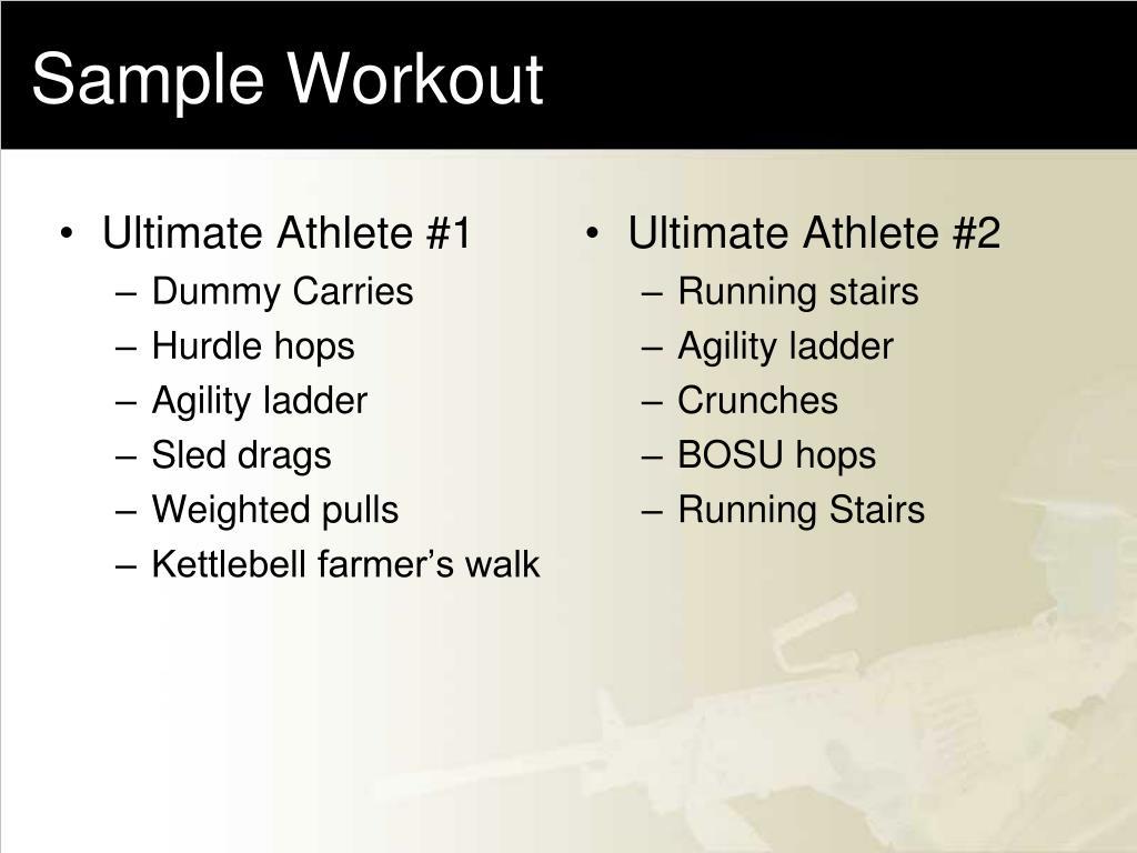 Ultimate Athlete #1