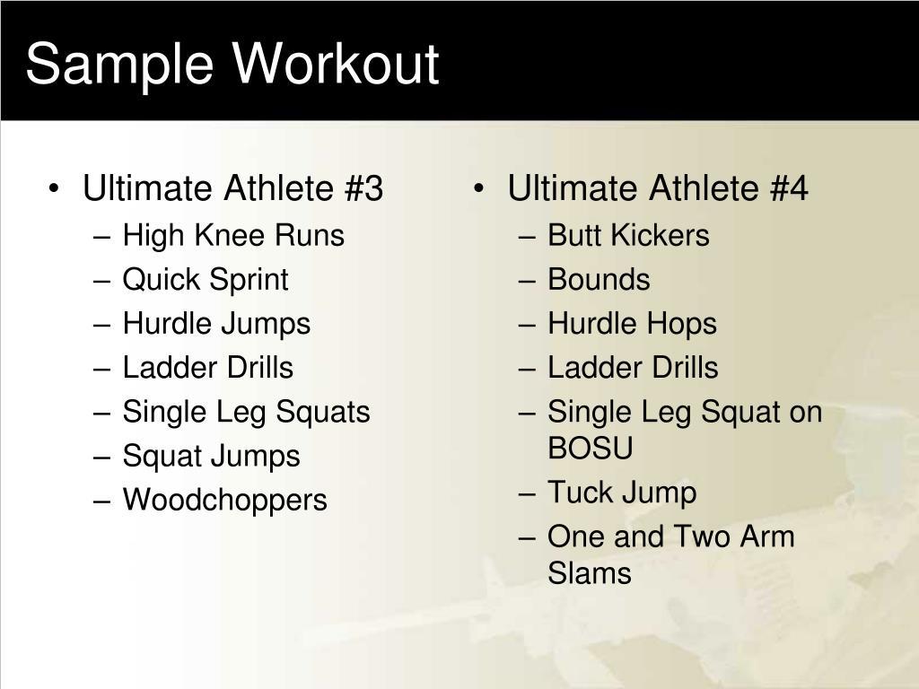 Ultimate Athlete #3