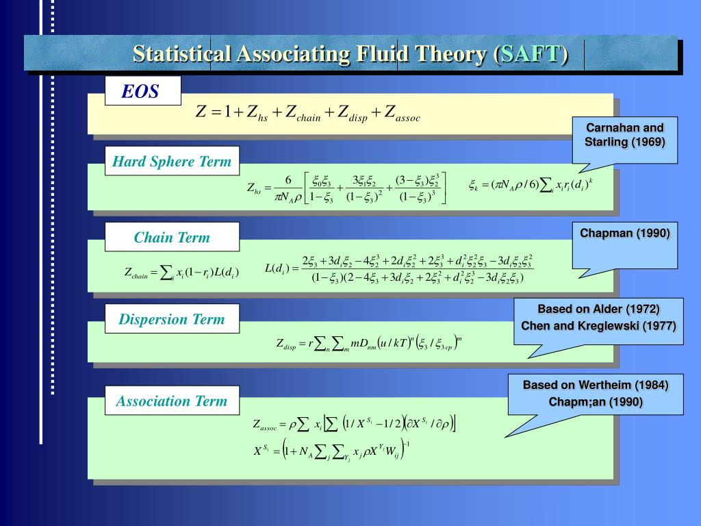 Statistical Associating Fluid Theory (