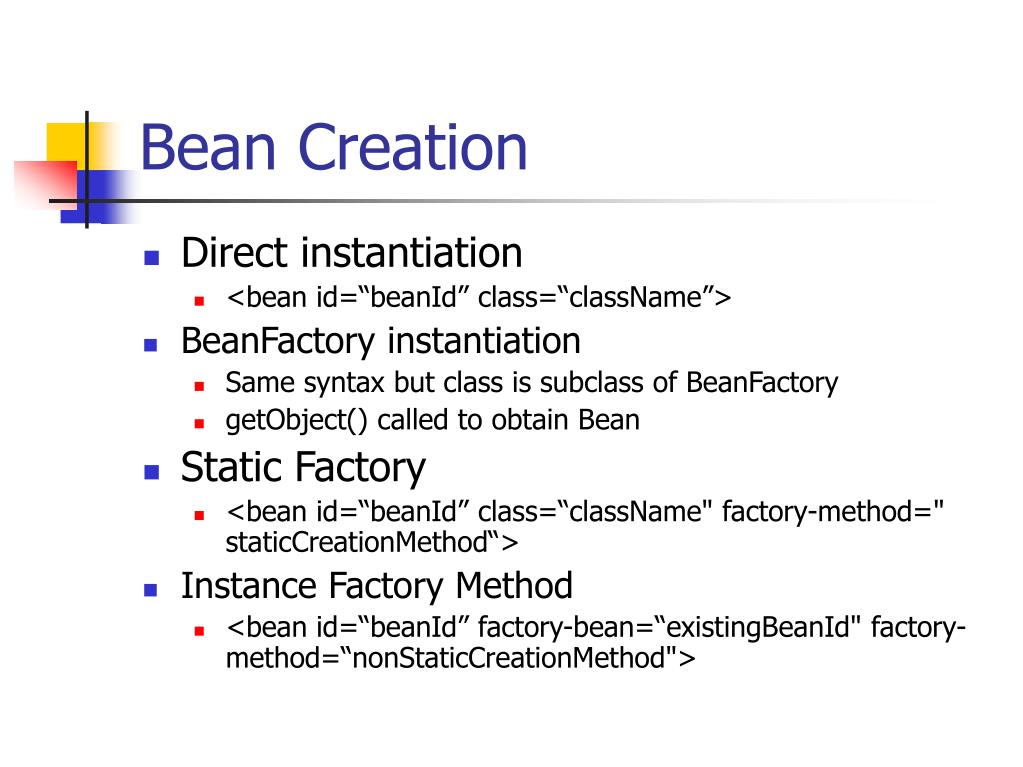 Bean Creation