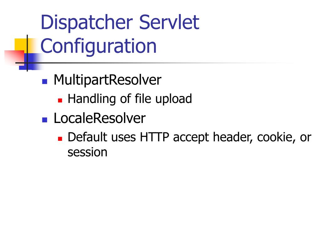 Dispatcher Servlet Configuration