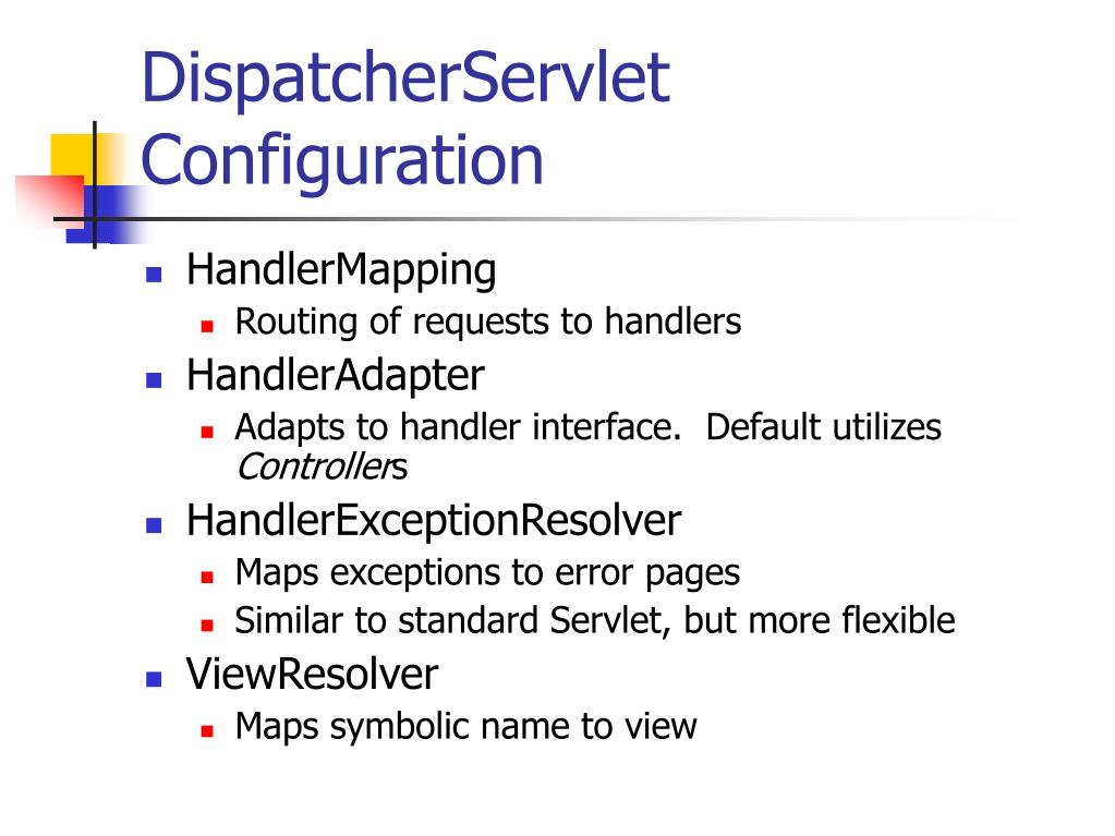 DispatcherServlet Configuration