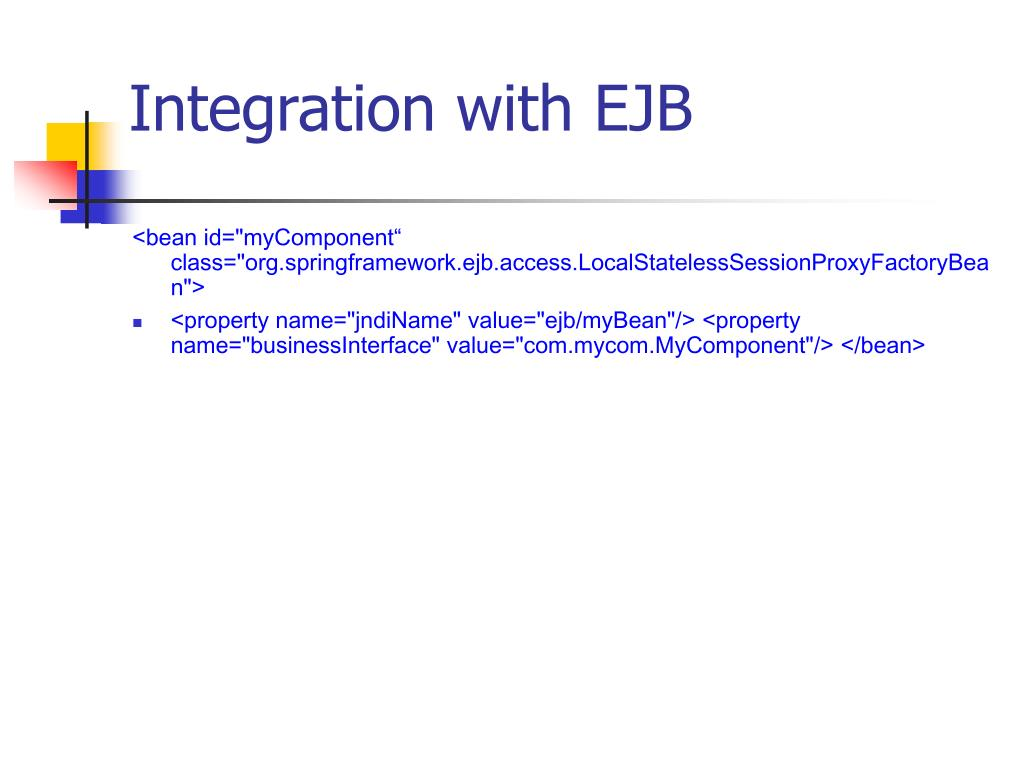 Integration with EJB