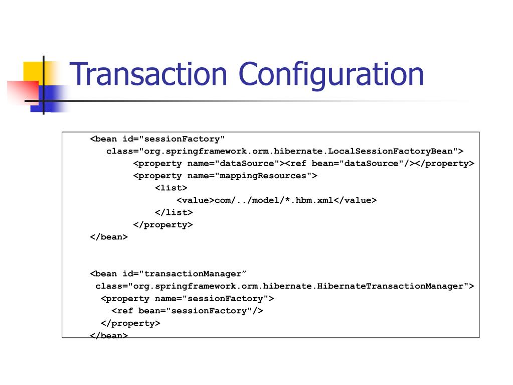 Transaction Configuration