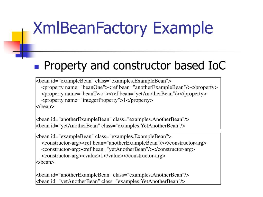 XmlBeanFactory Example