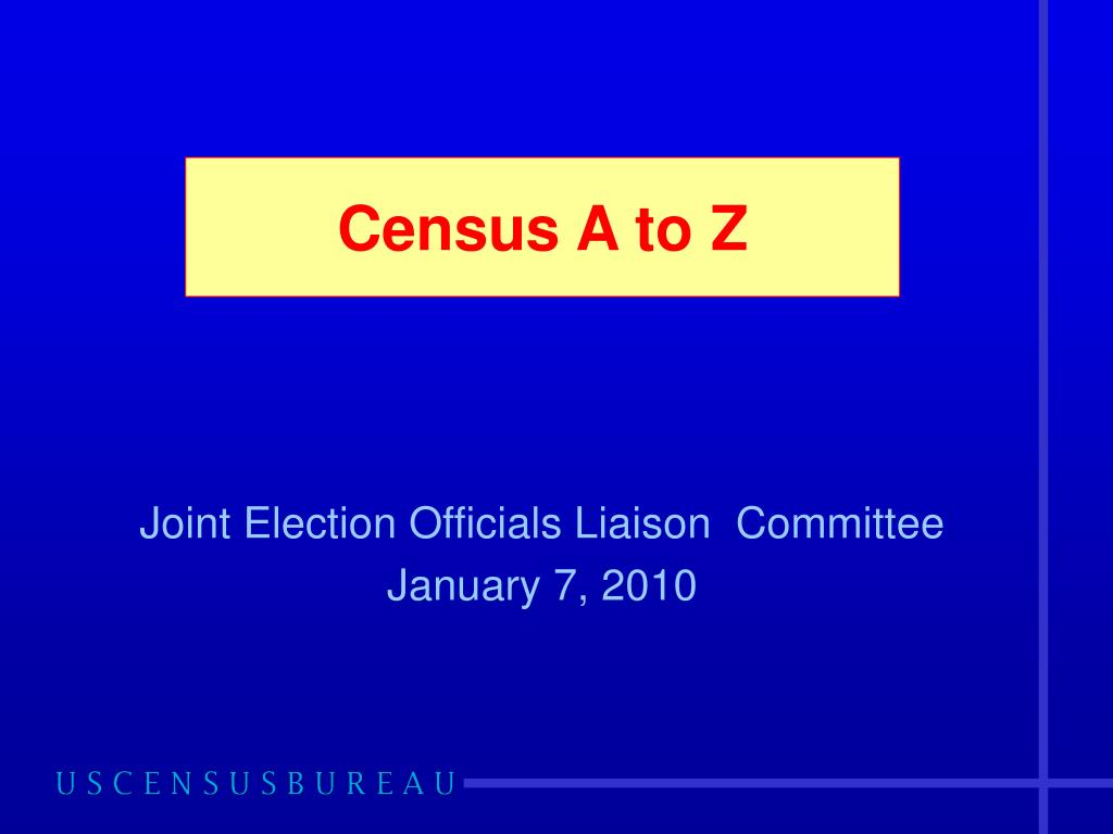 Census A to Z