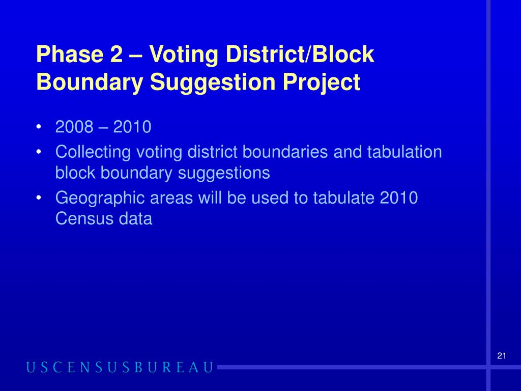 Phase 2 – Voting District/Block Boundary Suggestion Project