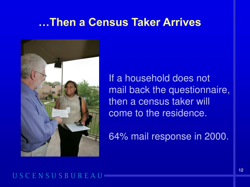 …Then a Census Taker Arrives