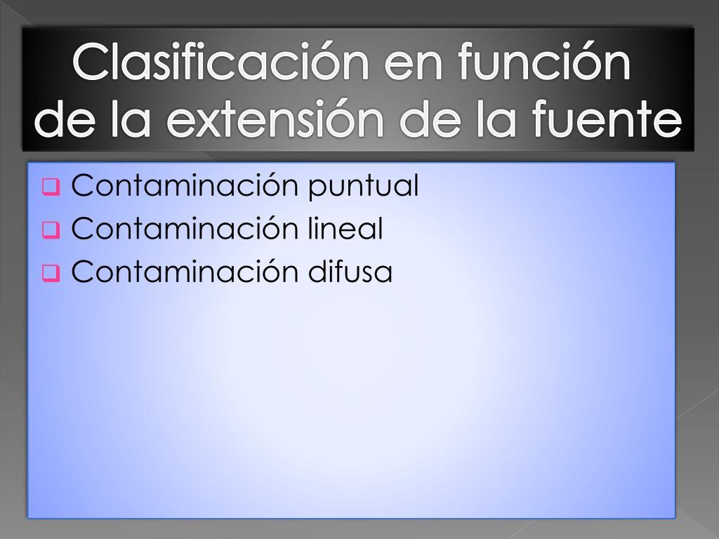 Clasificación en función