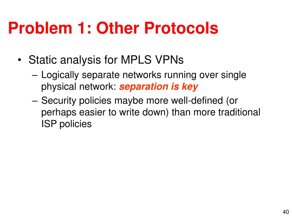 Problem 1: Other Protocols