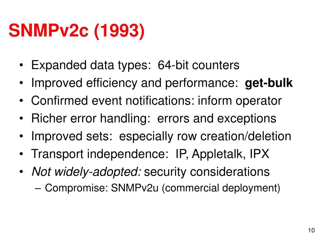 SNMPv2c (1993)
