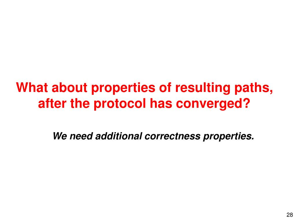 What about properties of resulting paths,