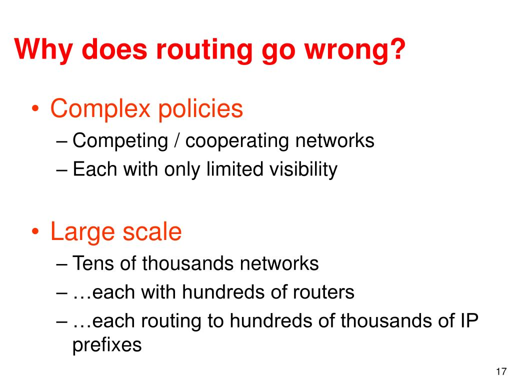Why does routing go wrong?