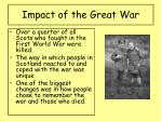impact of the great war