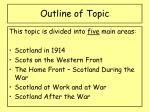 outline of topic