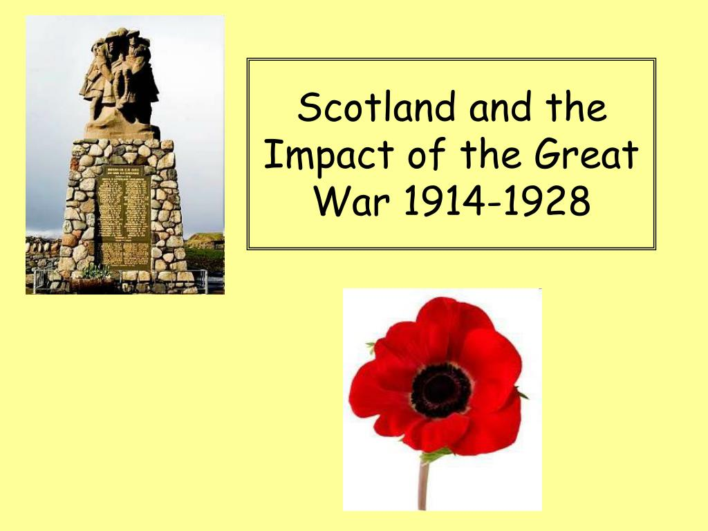 scotland and the impact of the great war 1914 1928