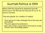 scottish politics in 1914
