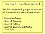 section 1 scotland in 1914