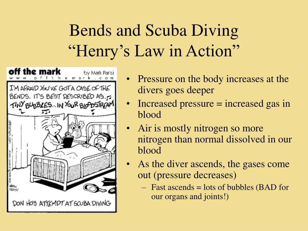 Bends and Scuba Diving