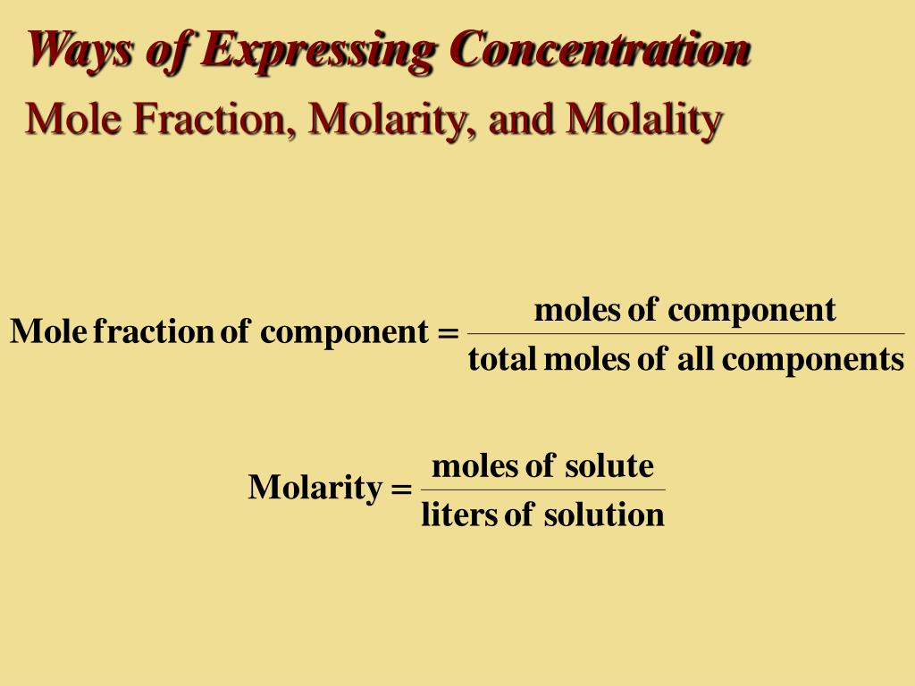 Ways of Expressing Concentration