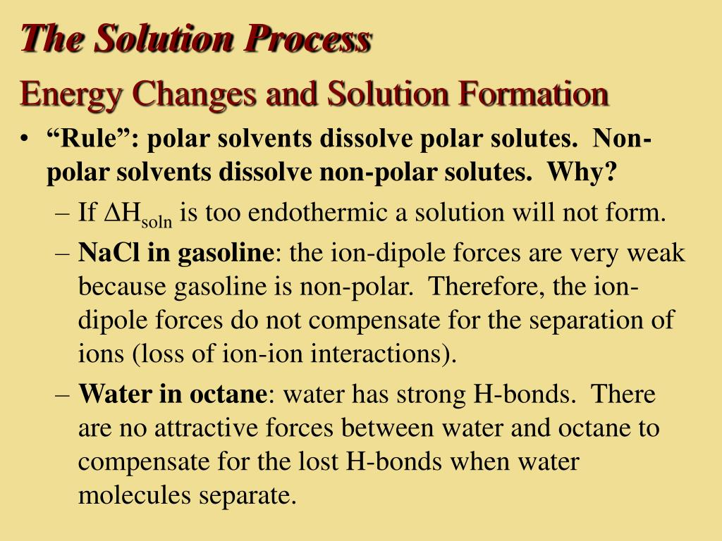 The Solution Process