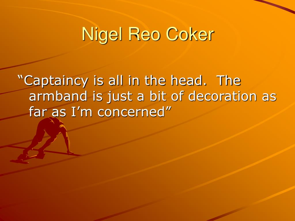 Nigel Reo Coker