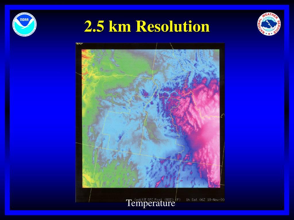 2.5 km Resolution