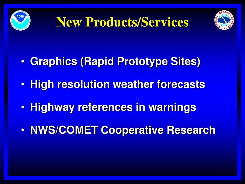 New Products/Services