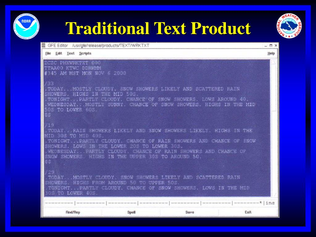 Traditional Text Product