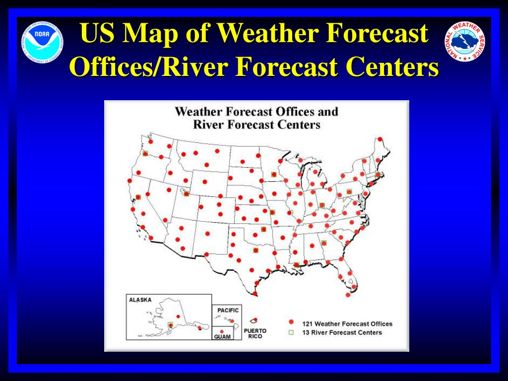 US Map of Weather Forecast Offices/River Forecast Centers