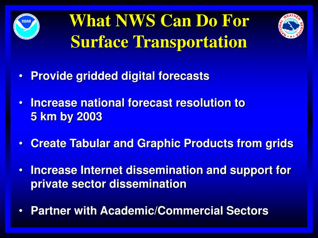 What NWS Can Do For