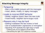 attacking message integrity