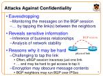 attacks against confidentiality