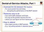 denial of service attacks part 1