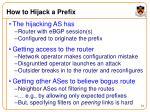 how to hijack a prefix
