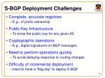 s bgp deployment challenges