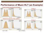 performance of muon hlt an example