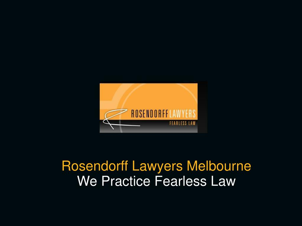 Rosendorff Lawyers Melbourne