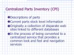 centralized parts inventory cpi