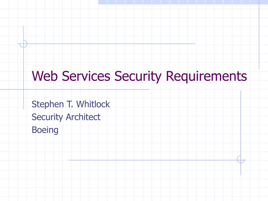 web services security requirements