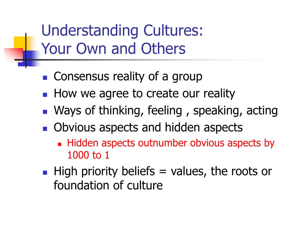 understanding cultures your own and others