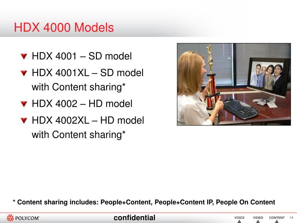 HDX 4000 Models