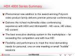 hdx 4000 series summary