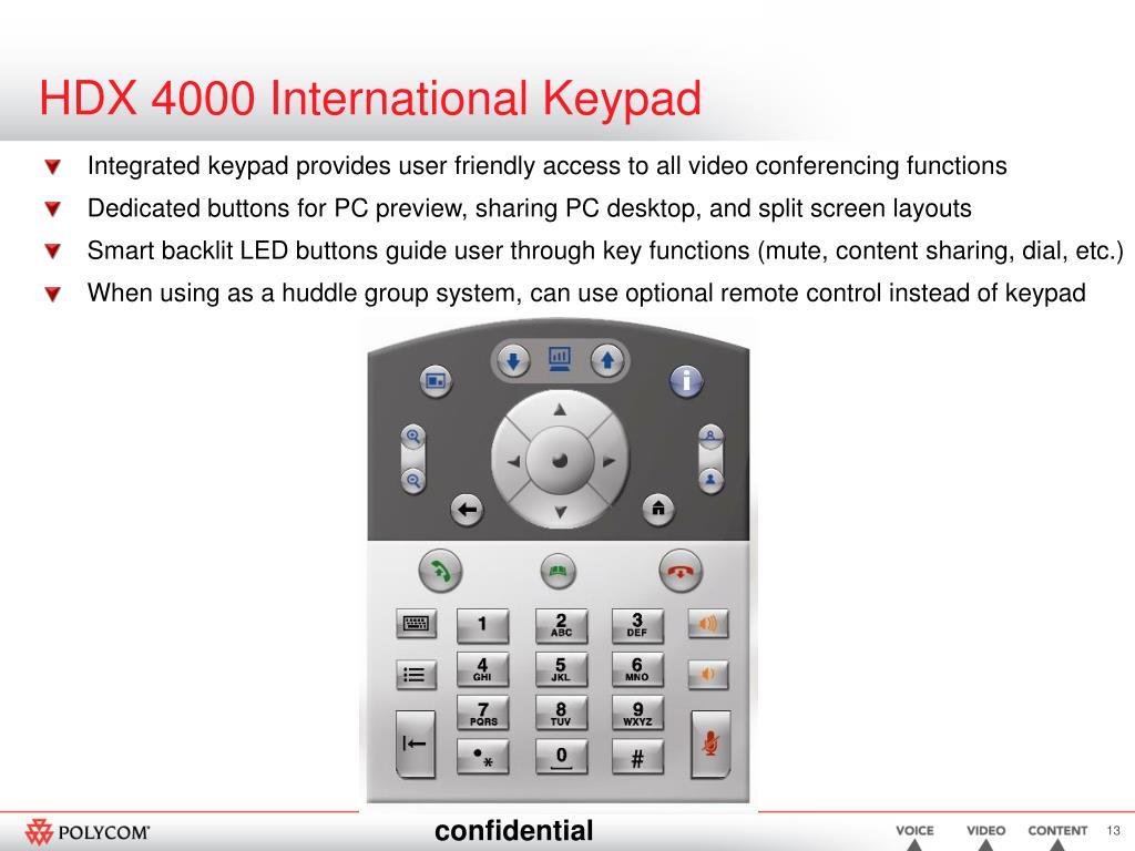 HDX 4000 International Keypad