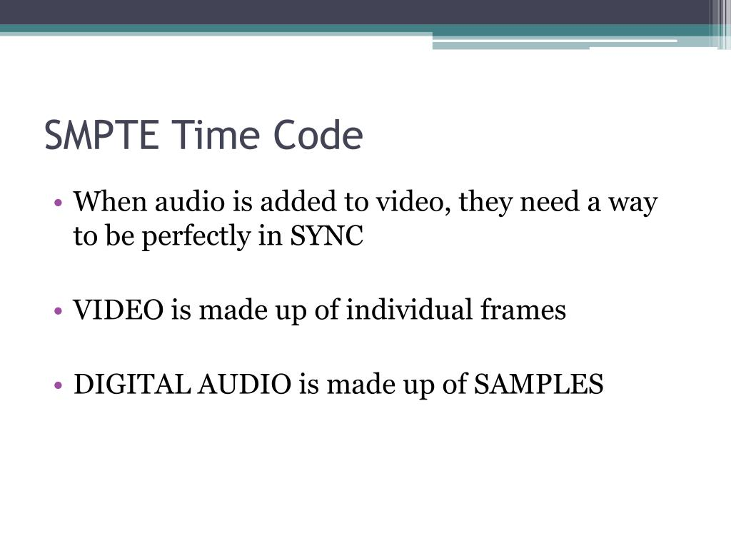 SMPTE Time Code