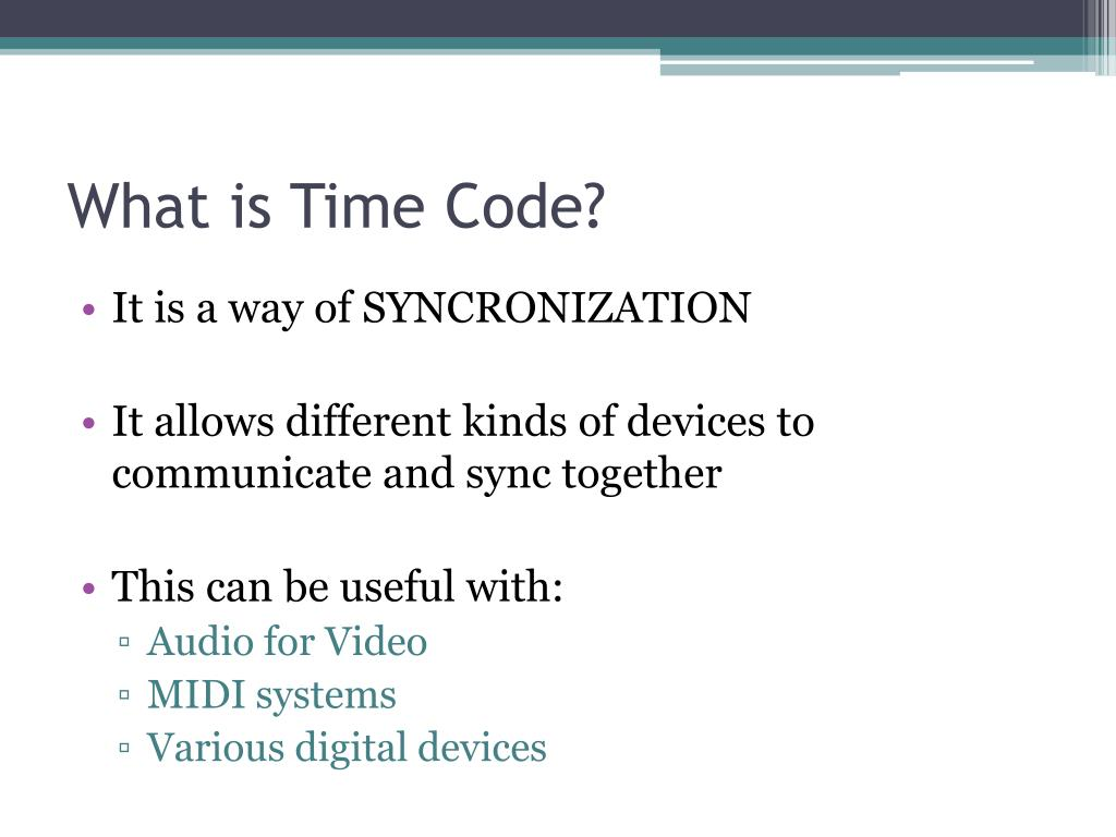 What is Time Code?