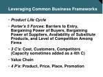 leveraging common business frameworks9