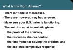 what is the right answer