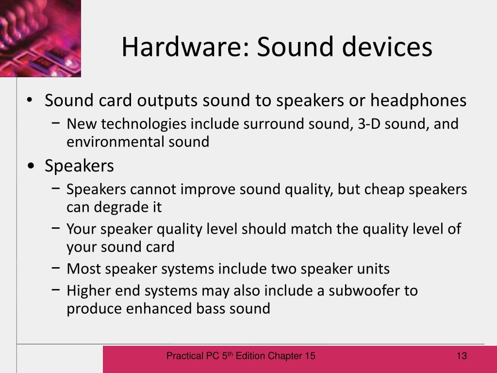 Hardware: Sound devices